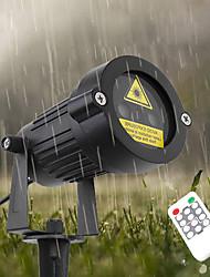 baratos -YWXLIGHT® 1pç 6 W Luzes do gramado Impermeável / Controlado remotamente / Luz do projetor RGB 100-240 V Iluminação Externa / Pátio / Jardim