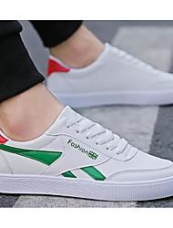 baratos -Homens Sapatos Confortáveis Couro Ecológico Primavera & Outono Tênis Rosa e Branco / Branco / Preto / Branco e Verde