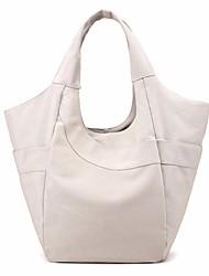 お買い得  -女性用 バッグ キャンバス ショルダーバッグ ジッパー 純色 ベージュ / グレー / コーヒー