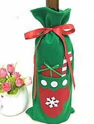 baratos -Sacos e Transportadores de Vinho Natal / Férias Não-Tecelado Cubo Festa / Novidades Decoração de Natal