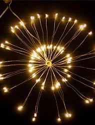 Недорогие -1pc 120leds привело фейерверк строки огни 20 см пульт дистанционного управления starburst огней складной букет формы свет строки привело строку Рождество
