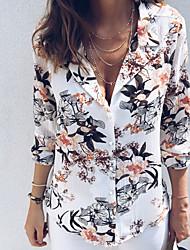 Недорогие -Жен. Рубашка Классический Цветочный принт