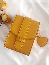 cheap -Women's Bags PU(Polyurethane) Mobile Phone Bag Buttons Black / Yellow