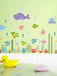 Недорогие -Декоративные наклейки на стены - Простые наклейки / Наклейки для животных Животные / Цветочные мотивы / ботанический Гостиная / Ванная комната