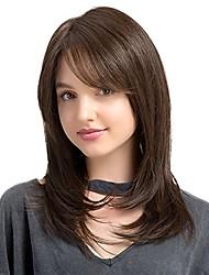 Недорогие -Не подвергавшиеся окрашиванию Лента спереди Парик Бразильские волосы Природа Черный Парик Стрижка боб 130% Плотность волос с детскими волосами Природные волосы Природа Черный Жен. Короткие