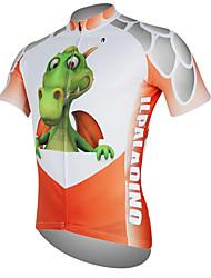 Недорогие -ILPALADINO Муж. С короткими рукавами Велокофты - Красный Динозавр Велоспорт Джерси Верхняя часть Дышащий Быстровысыхающий Ультрафиолетовая устойчивость Виды спорта 100% полиэстер / Горные велосипеды