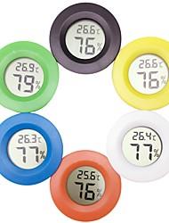 Недорогие -мини цифровой термометр электронный гигрометр круглый измеритель температуры и влажности тестер для аквариума с морозильной камерой холодильник