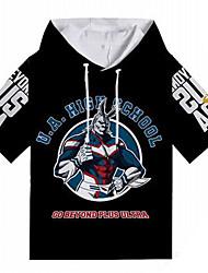 Недорогие -Как у футболки My Hero Academy Battle For All / Boku нет героя Academia Все Полиэстер / Хлопок Мультяшная тематика