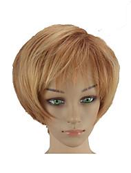 Недорогие -Парики из искусственных волос Прямой Стиль Стрижка под мальчика Без шапочки-основы Парик Блондинка Блондинка Искусственные волосы 10 дюймовый Жен. Мягкость Жаропрочная синтетический Блондинка Парик