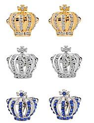 Недорогие -В форме короны Серебряный / Синий / Золотой Запонки Сплав Мода / Элегантный стиль Жен. Бижутерия Назначение Для вечеринок / Официальные
