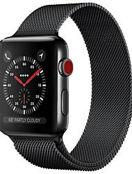 Недорогие -Нержавеющая сталь Ремешок для часов Ремень для Apple Watch Series 3 / 2 / 1 Черный / Синий / Серебристый металл 23см / 9 дюйма 2.1cm / 0.83 дюймы