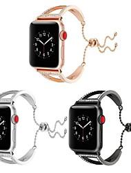 abordables -Acier Inoxydable Bracelet de Montre  Sangle pour Apple Watch Series 3 / 2 / 1 Noir / Argent 23cm / 9 pouces 2.1cm / 0.83 Pouces