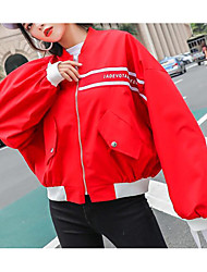 cheap -Women's Going out Jacket - Color Block / Letter
