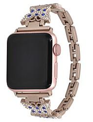 Недорогие -Нержавеющая сталь Ремешок для часов Ремень для Apple Watch Series 4/3/2/1 Золотистый 19cm / 7.48 дюймы 0.8cm / 0.31 дюймы