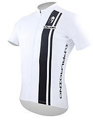 Недорогие -ILPALADINO Муж. С короткими рукавами Велокофты - Черный / Белый Dophin Велоспорт Джерси Верхняя часть, Дышащий Быстровысыхающий Ультрафиолетовая устойчивость Полиэстер 100% полиэстер
