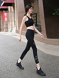 cheap -Women's Sexy Yoga Pants - Black, Dark Navy Sports Color Block 3/4 Capri Pants Running, Fitness, Workout Activewear Butt Lift, Tummy Control, Power Flex High Elasticity Skinny, Slim