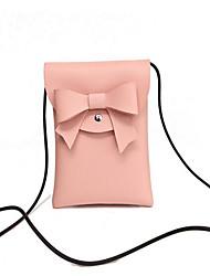 Недорогие -Жен. Мешки PU Мобильный телефон сумка Бант(ы) Розовый / Серый / Коричневый