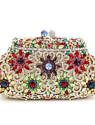 economico -Per donna Sacchetti Lega Pochette Dettagli con cristalli / Traforato Oro / Argento