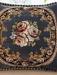 Недорогие -1 штук синель Подушка в наволочке, Цветочный принт Европейский стиль