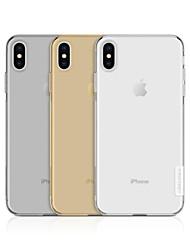 Недорогие -Кейс для Назначение Apple iPhone XS / iPhone XS Max Ультратонкий / Прозрачный Кейс на заднюю панель Однотонный Мягкий ТПУ для iPhone XS / iPhone XR / iPhone XS Max