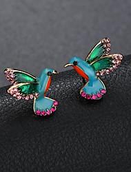 abordables -Femme Sculpture Boucles d'oreille goujon - Mini, Oiseau Dessin Animé, Le style mignon Arc-en-ciel Pour Quotidien Sortie