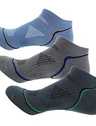 Недорогие -Носки для пешеходного туризма Низкие носки 3 пары Легкость Стреч Мода Хлопок Весна для Муж. На открытом воздухе Велосипедный спорт / Велоспорт Темно-серый / Эластичная / Зима