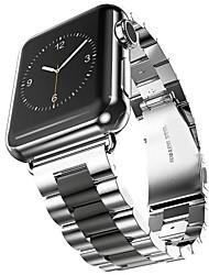 Недорогие -Нержавеющая сталь Ремешок для часов Ремень для Apple Watch Series 3 / 2 / 1 Черный / Золотистый 23см / 9 дюйма 2.1cm / 0.83 дюймы