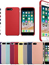 Недорогие -Кейс для Назначение Apple iPhone X / iPhone 8 Защита от удара Кейс на заднюю панель Однотонный Мягкий Силикон для iPhone XS / iPhone XR / iPhone XS Max