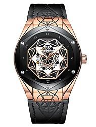 Недорогие -Tevise Муж. Механические часы Японский С автоподзаводом Натуральная кожа Черный / Коричневый 30 m Защита от влаги Фосфоресцирующий Cool Аналоговый На каждый день Мода -
