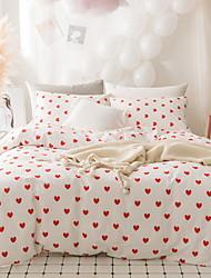 baratos -Conjunto de Capa de Edredão Geométrica 100% algodão Impressão Reactiva 4 PeçasBedding Sets / 4peças (1 edredão, 1 lençol, 2 coberturas)