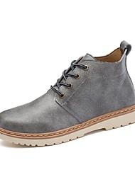 Недорогие -Муж. Армейские ботинки Микроволокно Весна / Осень На каждый день Ботинки Водостойкий Ботинки Черный / Серый / Коричневый