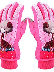 Недорогие -Лыжные перчатки Детские Полный палец Сохраняет тепло Защитный Ткань Хлопок Катание на лыжах Зима