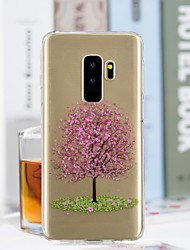 baratos -Capinha Para Samsung Galaxy S9 Plus / S9 Transparente / Estampada Capa traseira Árvore Macia TPU para S9 / S9 Plus / S8 Plus