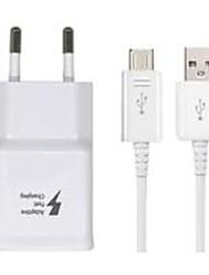 Недорогие -Портативное зарядное устройство Зарядное устройство USB Евро стандарт с кабелем 1 USB порт 2.1 A 100~240 V для