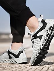 cheap -Men's Running Shoes / Sneakers PU (Polyurethane) Racing / Running / Jogging Lightweight, Anti-Shake / Damping, Cushioning Breathable Mesh / Tulle / Fabric White / Black / Green