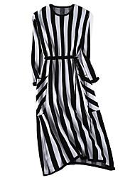 baratos -Mulheres Para Noite Delgado Bainha / Tricô Vestido Médio