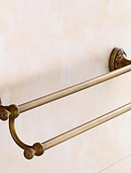 abordables -Barre porte-serviette Multicouche / Design nouveau Antique Laiton 1pc Double Montage mural