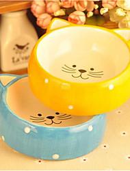 cheap -0.5 L L Dogs / Cats Feeders Pet Bowls & Feeding Portable / washable / Cartoon Design Yellow / Blue