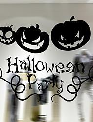 Недорогие -Оконная пленка и наклейки Украшение Хэллоуин Праздник / Классика ПВХ Стикер на окна
