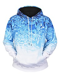 cheap -Men's Active / Basic Hoodie - Solid Colored / Geometric / 3D, Print