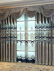 Недорогие -Шторы портьеры Спальня Цветочный принт / Геометрический принт Полиэстер Активный краситель / Солнцезащитные