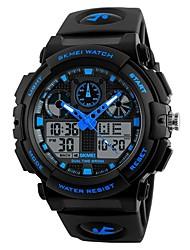 Недорогие -Муж. электронные часы Цифровой силиконовый Черный Секундомер Фосфоресцирующий Cool Аналого-цифровые На каждый день - Красный Зеленый Синий