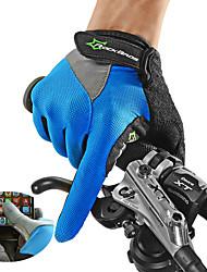 Недорогие -ROCKBROS Спортивные перчатки Перчатки для велосипедистов Перчатки для сенсорного экрана Дышащий Противозаносный Толстые Полный палец Холодная погода Зима Лайкра сверхтонкие волокна