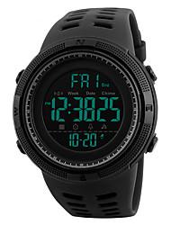 Недорогие -S KMEI Муж. Наручные часы электронные часы Цифровой 30 m Защита от влаги Календарь Повседневные часы силиконовый Группа Цифровой На каждый день Мода Черный - Красный Синий Золотистый / Красный
