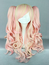 cheap -pink mixed wig pretty lolita wig gothic lolita pink wig ponytails princess cosplay long wavy wig
