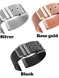 abordables -Acier Inoxydable Bracelet de Montre  Sangle pour Apple Watch Series 3 / 2 / 1 Noir / Argent / Doré 18cm / 7 Pouces 2cm / 0.8 Pouces