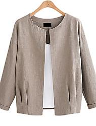 Недорогие -Жен. Куртка Классический / Изысканный - Однотонный