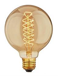 Недорогие -1шт 40 W E26 / E27 G95 Тёплый белый 2200-2700 k Ретро / Диммируемая / Декоративная Лампа накаливания Vintage Эдисон лампочка 220-240 V