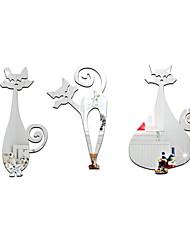 Недорогие -Декоративные наклейки на стены - Зеркальные стикеры Животные В помещении