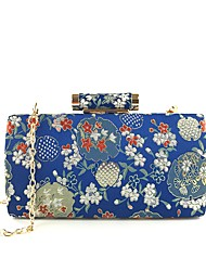 cheap -Women's Bags Cotton / Alloy Evening Bag Embroidery / Flower Embroidery Blushing Pink / Dark Blue / Light Grey